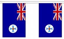 AUSTRALIA QUEENSLAND BUNTING - 3 METRES 10 FLAGS